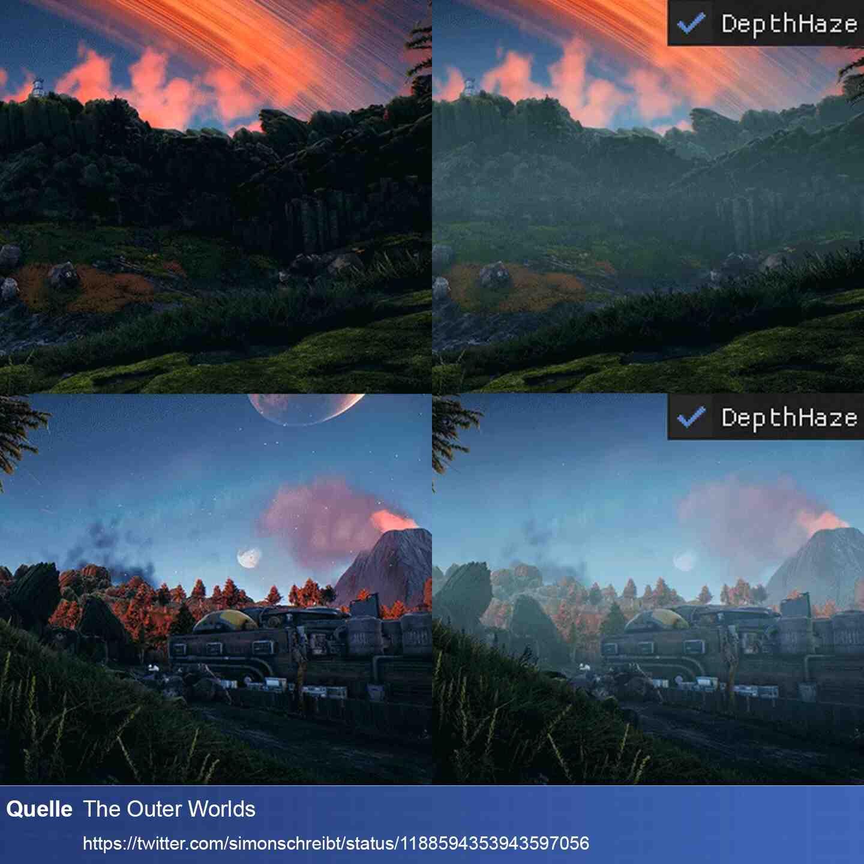 Licht Beispiel Outer Worlds Nebel