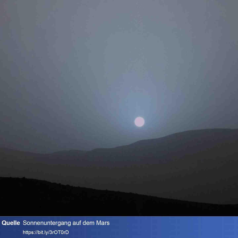 Mars Sonnenunterang