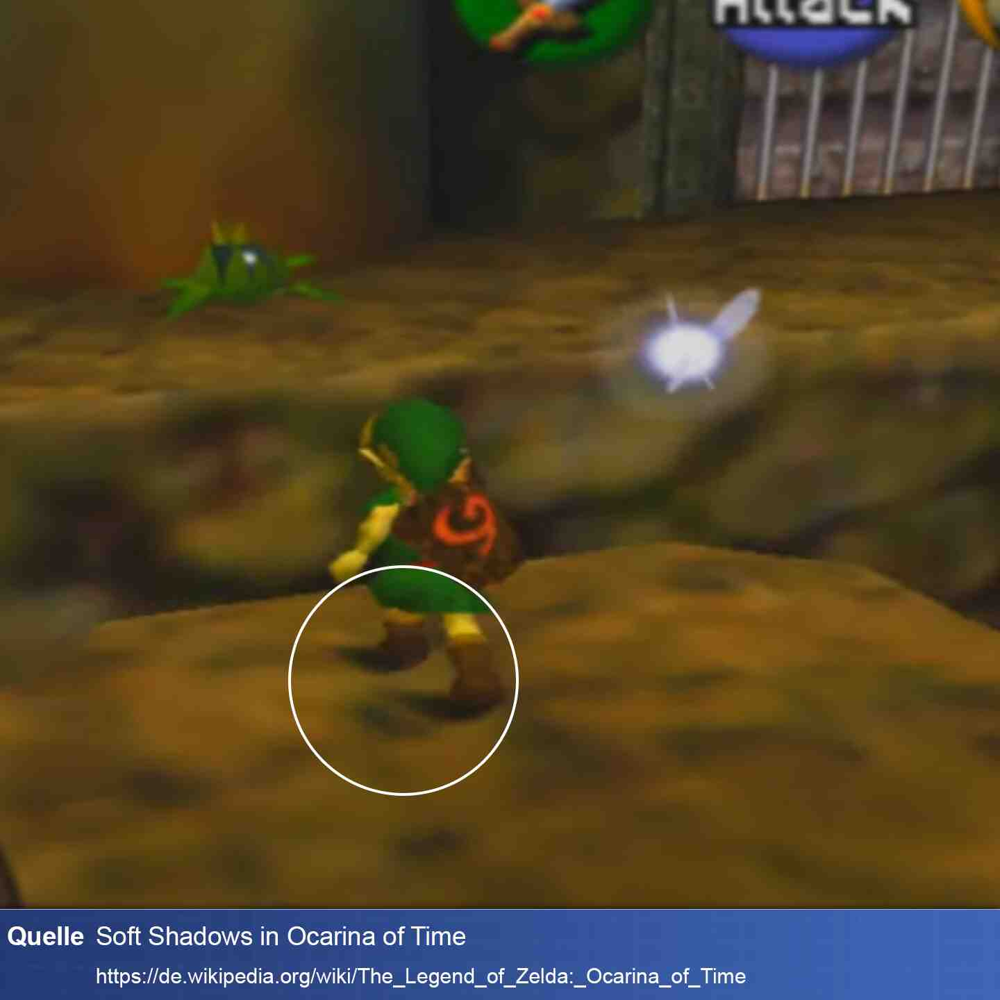 Soft Shadow in Ocarina of Time